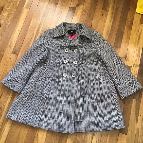 Miss Sixty Double Breasted Wool Blend Coat Sz XL